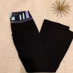 NWOT Lululemon Black Flare Leggings Size 2